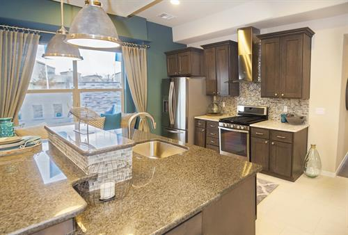 Our kitchens are designed for maximum work space, storage space, and beauty