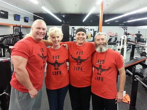 Fit 4 LIfe Fitness Expert Big Jon, Lisa, Elke and Ray!