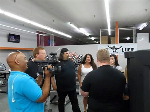Fit 4 Life TV Filming in Progress with Chris of Venture Productions!