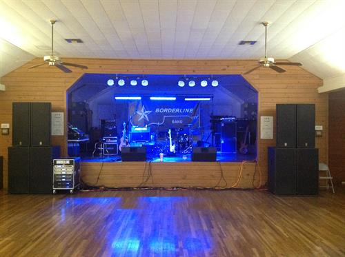 Dance hall set up
