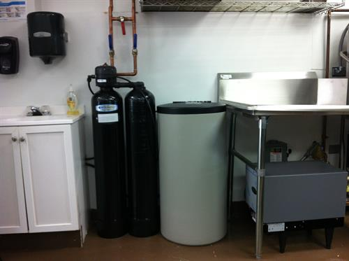 A Kinetico Water Softener was installed at Cucina Rosa in McHenry