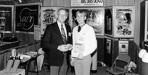 Tom and Joe Huemann at a McHenry Trade Show