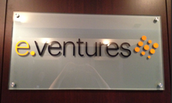Glass Reception Area Sign