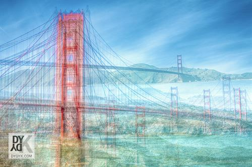 'Golden Gate View 1'  -Limited Edition of 25 print