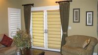 Decorative drapery panels with Hunter Douglas Vignettes