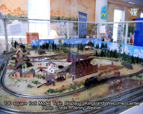 100 square foot Model Train Display