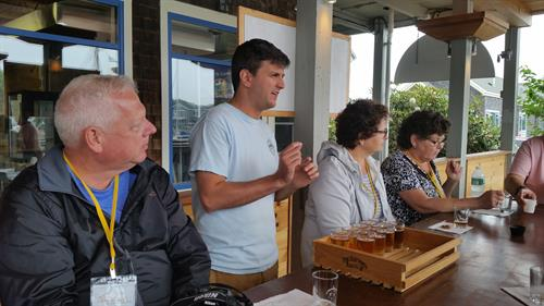 Craft beer flights at Kennebunkport Brewing Company - Shipyard