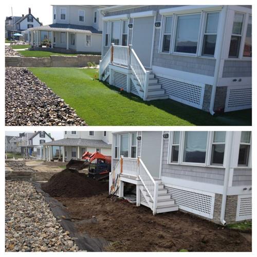 Before and after Lawn/Driveway Installation