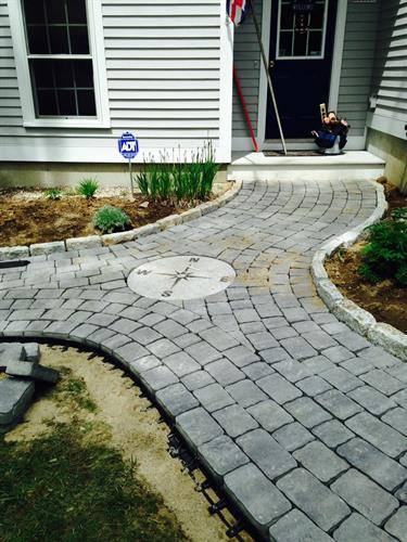 Walkway/Patio with Compass!