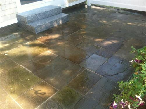 Small patio and Granite Step Installation