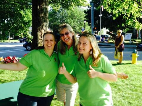 Roxann, Terece, and Melissa at this years Library Road Race