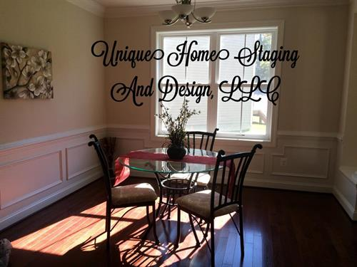 Vacant Dining Room Staged