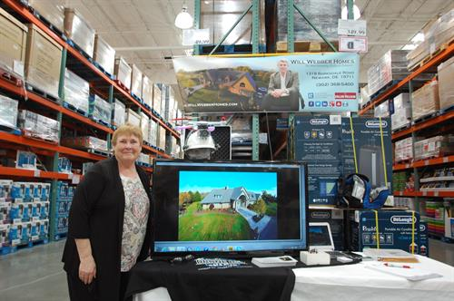 Pat Forrester at COSTCO and my display to support 501c3 benefit.  Had a blast!