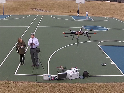 News Journal / Delaware on Line interview --- Many UAVs flying.