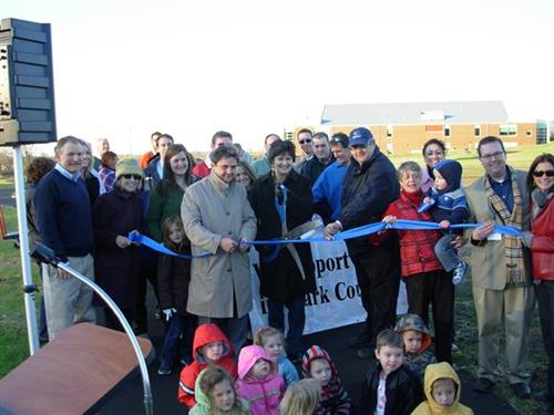 Ribbon Cutting event for The Green walking trail.