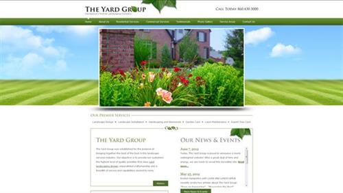 Website we did for The Yard Group.