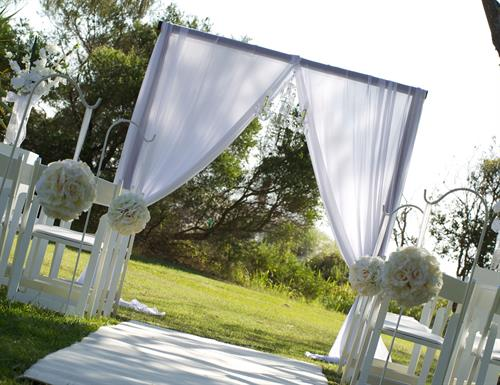 Ceremony & Reception Decor Rentals of all shapes and sizes