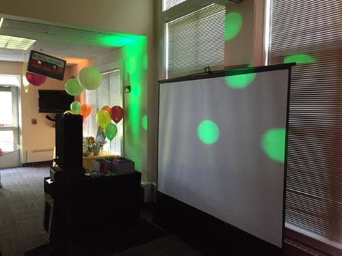 "Our ""open air"", compact Photo Booth set up fits into any space!"