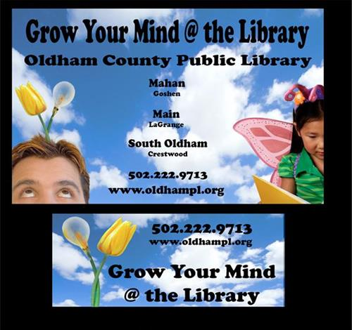 Library Cards are free if you are an Oldham County Resident.