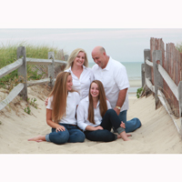 Fun Family Beach Portrait