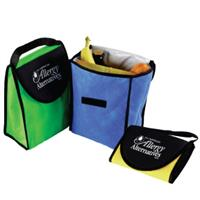 custom imprinted kool lunch tote