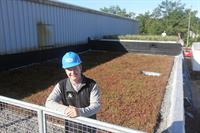 Nate Griswold on the Cherry Capital Foods green roof