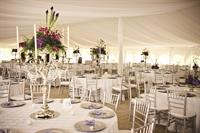 Wedding Reception in the Plaza Tent at Grand Traverse Resort and Spa.