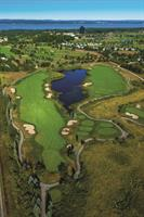 Grand Traverse Resort and Spa golf course aerial photo.