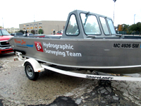 One of our hydrographic (underwater) surveying vessels which serve the entire Great Lakes basin