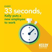 Did You Know? Kelly puts a new employee to work every 33 seconds . . .Visit: http://kellyservic.es/YPgQ