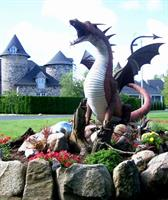 Norm the Dragon guards the Castle from the Dragon's Lair garden