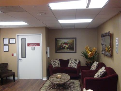 Our onsite surgical center reception area