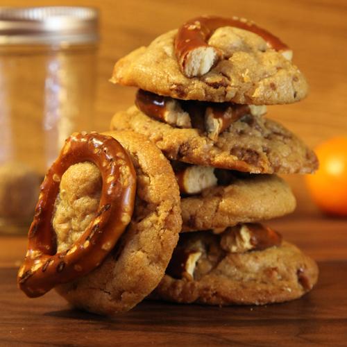 Toffee Peanut Pretzel Cookies