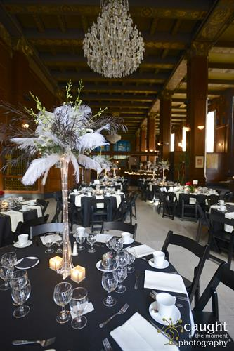 Art Deco Table Arrangements Long Beach Symphony 2015 Gala at The Federal Bar