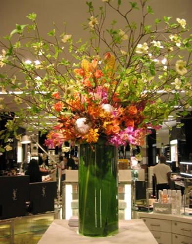 Dramatic Display Arrangements for a Hotel Lobby and Grand Opening Celebration