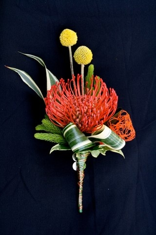 A Fun Spring and Fall Pin-cushion Boutonniere