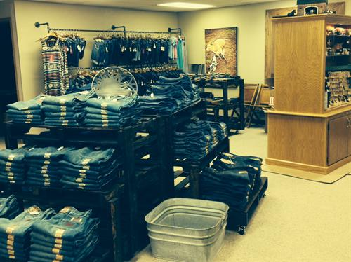 We carry Wrangler Premium Denim, Big Star, Rock & Roll Cowgirl, and Vigoss jeans! New lines added frequently!