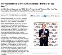 Meridian Bank CEO Named Banker of Year