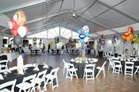 A Bar Mitzvah in the Chateau Tent at Green Valley. Pool passes available for swimming located right next to the Tent!