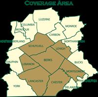 Berks Fire Water Restorations' Service Area Berks, Chester, Lancaster, Lehigh, Lebanon, Montgomery, Schuylkill Counties