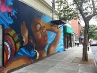 Bronx Museum mural on East wall of our 167th St. HQ.