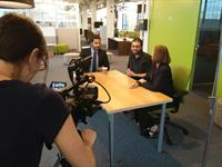 Filming for our feature video, at the BOC Bronx Business Incubator