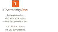 Bank smarter. Bank happier. Bank with CommunityOne.