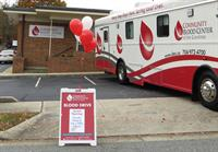 CBCC Greensboro Center and Bloodmobile