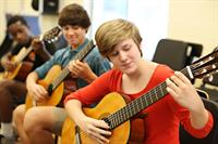 Middle and Upper School Studio Guitar Students
