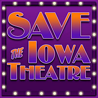 Save The Iowa Theatre logo design
