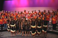 SSC's Pure Treble and Pure Harmony choruses perform with the African Children's Choir.