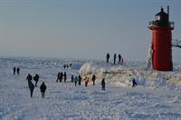 Rare ice coverage on Lake Michigan 2014.