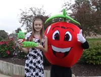 Safety Sammy - Apple Worm Mascot for Kids Safety