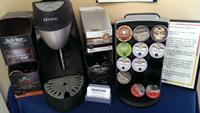 Denton has over 70 K-Cup varieties of coffee, tea and hot chocolate in regular and decaf, for your Keurig brewer.